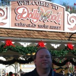 Entrance of the Dollywood theme park.