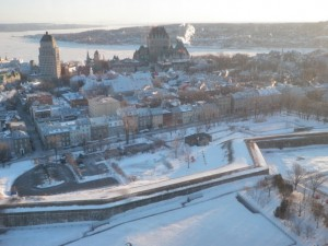 Quebec City blanketed in show