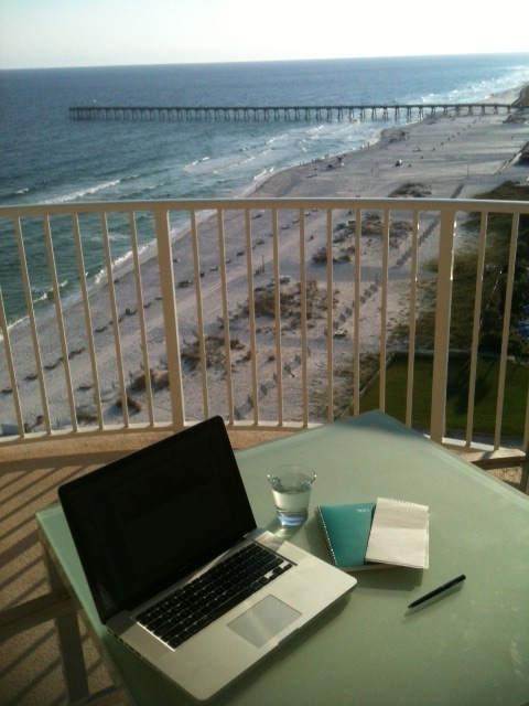 "The Hilton Pensacola Beach offers some ""temporary offices"" with stunning Gulf of Mexico views.. (Photo: Tom Adkinson)"