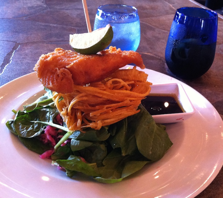 The Skinny Pink salad at Taste and See started the seafood journey. (Photo: Tom Adkinson)
